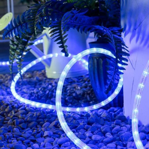 Cut to Length Outdoor & Indoor LED Rope Light Blue